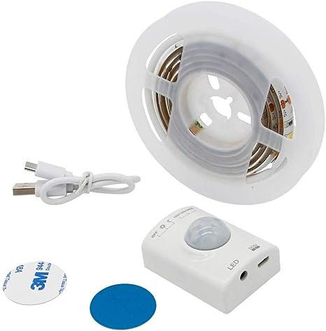 Creator-Z 3.7V Luz LED Sensor con Sensor De Movimiento Lámpara De Noche USB Recargable Batería Temporizador De Apagado Automático para La Habitación del Bebé Despensa Y Escaleras: Amazon.es: Deportes y aire libre