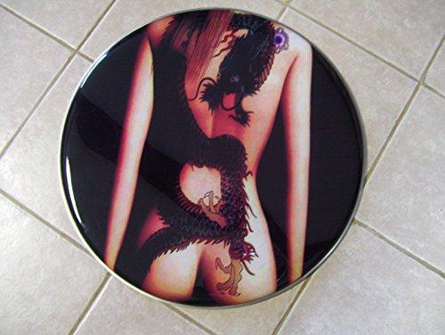 (Bass drum head, custom painted, 22
