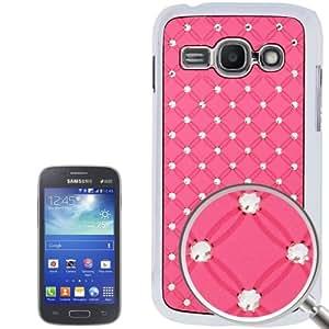 """Galaxy Ace S7272 3 / S """" Joyería con Efecto Plating"""" 7275 caso de la cubierta protectora de plástico Rose"""