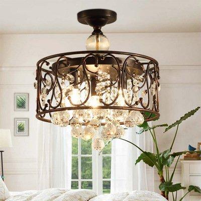 3-Light Vintage Crystal Lámparas de techo Lámparas de techo ...