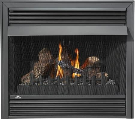 "Napoleon Grandville VF Series GVF36-2N 37"" Vent Free Natural Gas Fireplace with Millivolt Ignition Up to 30 000 BTU"