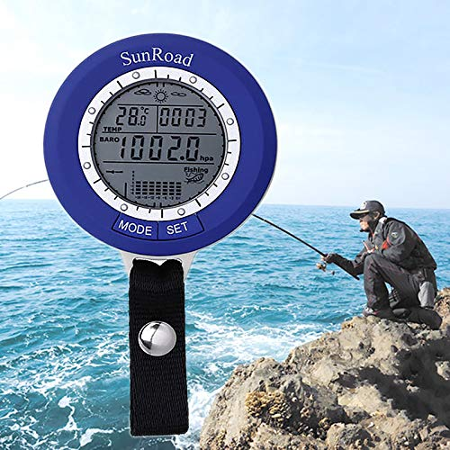 Ocamo Fishing Barometer SR204 - Tracks 6 Locations At Once Air Pressure Temperature Water Depth Weather Forecast IPX4