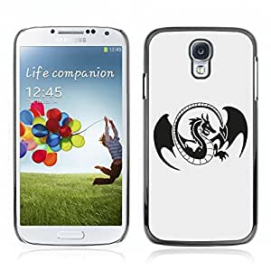 Super Stellar Slim PC Hard Case Cover Skin Armor Shell Portection // V0000557 Dragon Logo // Samsung Galaxy S4 i9500