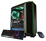 CUK Mantis Custom Gaming PC (Intel i7-8700, 16GB DDR4-2666 RAM, 500GB SSD, NVIDIA GeForce GTX 1060 3GB, 450W Bronze PSU, Windows 10) The Best New VR Ready Tower Desktop Computer for Gamers