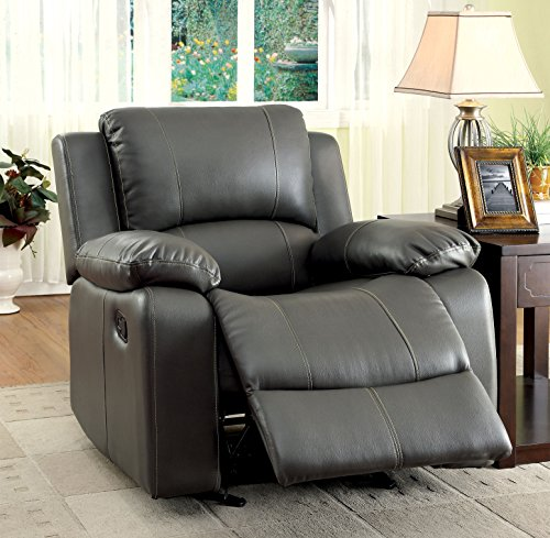 - Furniture of America Robyn Leatherette Recliner Chair