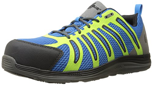 Nautilus 1740 Carbon Composite Fiber Safety Toe Super Light Weight Slip Resistant EH Safety Shoe, Blue, 14 W -