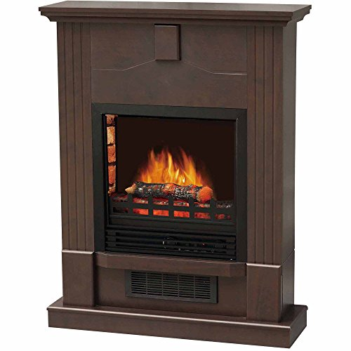 Electric Fireplace with 28'' Mantle, Dark Chocolate by Decor Flame