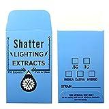 1000 Blue Shatter Lightning Extracts Concentrate Strain Label Envelopes #126