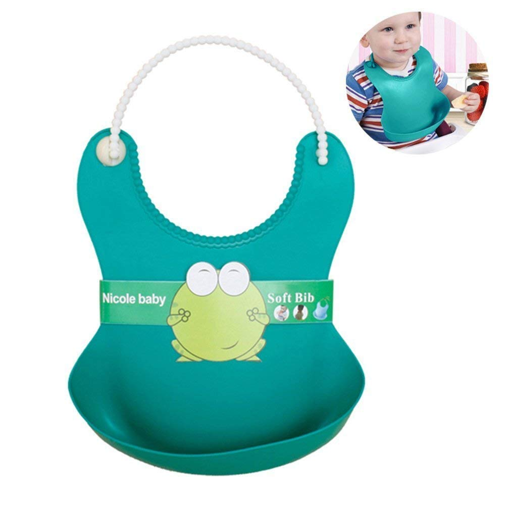 Children Waterproof Feeding Baby Silicone Bibs Pick Rice Pocket Kids Apron