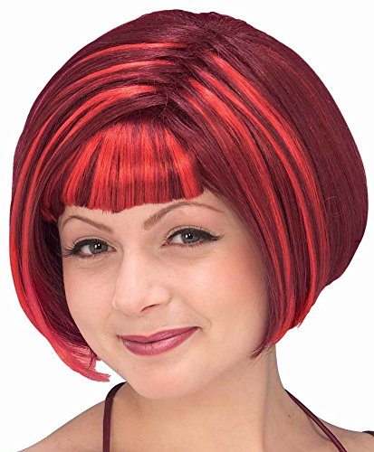50s Halloween Costume 50s Diva (Forum Novelties Women's Devil Diva Wig, Red, One Size)