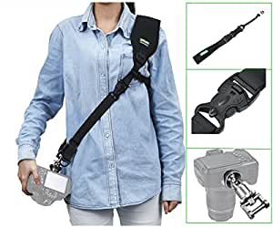 IMORDEN Falcon F-2 Camera Sling Shoulder Strap with Tether and Quick-release Camera Connector for All Dslr Cameras