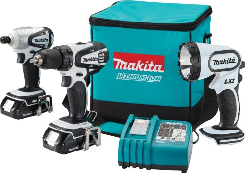 Makita LCT300W 18-Volt Compact Lithium-Ion Cordless 3-Piece Combo Kit (Discontinued by Manufacturer) ()