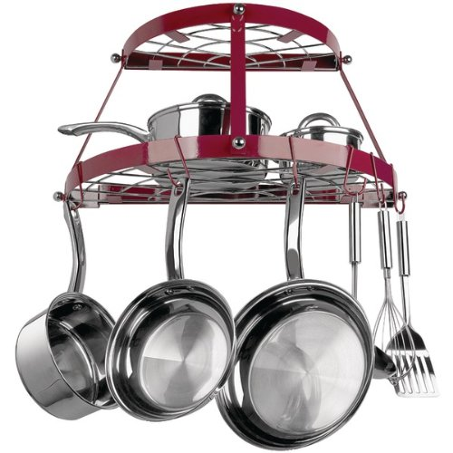 RANGE KLEEN CW6003R Double-Shelf Wall-Mount Pot Rack (Red) PET2
