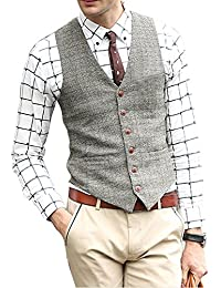 Men's Unique Advanced Custom Vest Skinny Wedding Dress Waistcoat