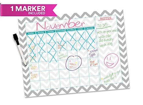 Dry Erase Monthly Wall Calendar