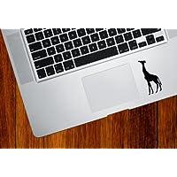Yadda-Yadda Design Co. Giraffe Eating - Trackpad/Keyboard - Vinyl Decal (Color Variations Available)