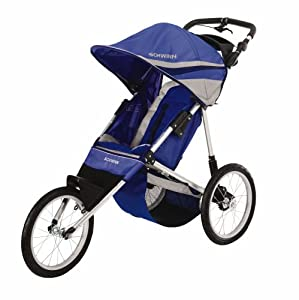 Amazon Com Schwinn Free Runner Jogging Stroller Blue