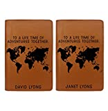 Couple Passport Holder - Personalized Passport Cover - Set of 2 - Wedding Gift