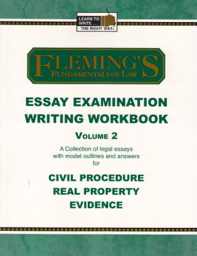 civil procedure exam essays In ca, civil procedure essays have appeared 13 times since 2002 so, while not necessarily infrequent, relative to the ube and other tested topics (see: 24 professional responsibility questions in the same span of time), ca goes a tad lighter on civil procedure testing frequency.