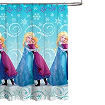 "Disney Frozen 70"" x 72"" Fabric Shower Curtain"