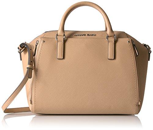 Armani Jeans Borsa Top Handle bag woman Pvc Plastic Camel Tannin