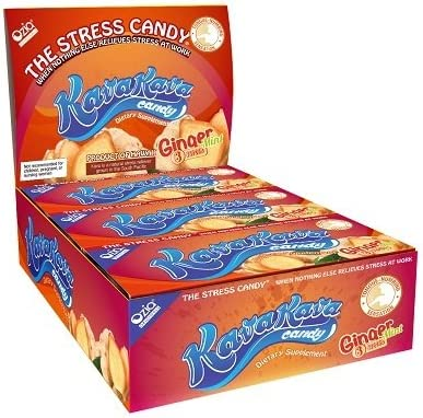Kava Stress Relief Candy from Hawaii - Ginger Mint - 1 Box 12 Individual Packs