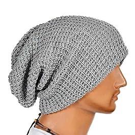 Bobury Oversized Men Knit Beanie Hat Baggy Long Slouchy Winter Warm Skull Cap