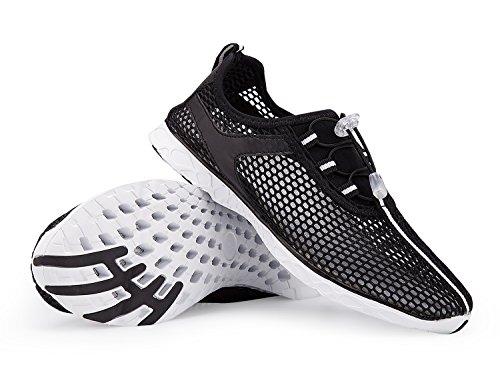Der Netz-Beleg der A-PIE Männer auf schnell trocknenden Wasser-Schuhen Schwarz