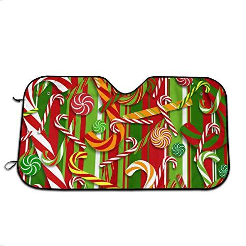 Sa-zqHH Christmas Candy Cane Car Windshield Car Sunshade Auto Front Window Sun Shade Visor Shield Cover Universal Fit Keep Your Vehicle Cool. UV Sun and Heat Reflector
