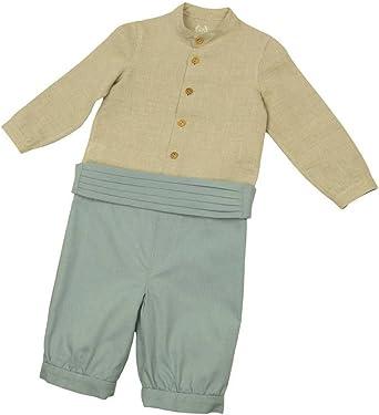 MI HIJA Y YO Conjunto Bebé Camisa de Lino y Pantalón con Fajin de Píque - Hecho a Mano(de 12 a 24 Meses): Amazon.es: Ropa y accesorios