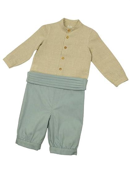 MI HIJA Y YO Conjunto Bebé Camisa de Lino y Pantalón con ...