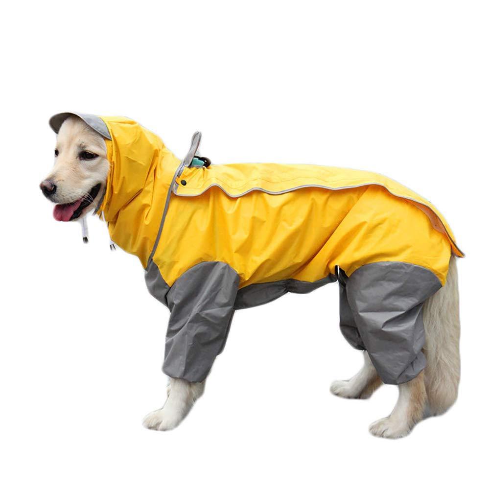 30 Dog Raincoat with Removable Hoodie, Reflective Tape Large Dog Raincoat Dog Coat Pet Clothes Dog Raincoat Teddy Bear Big Dog Rain Coat,30