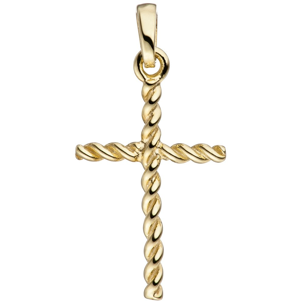 JOBO Anhä nger Kreuz schmal 333 Gold Gelbgold Kreuzanhä nger Goldkreuz 46334