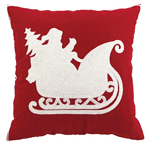 Sykting Embroidery Throw Pillow Case 18x18 Christmas Pillow Cover set of 4 Pillow Cases Home Car ...