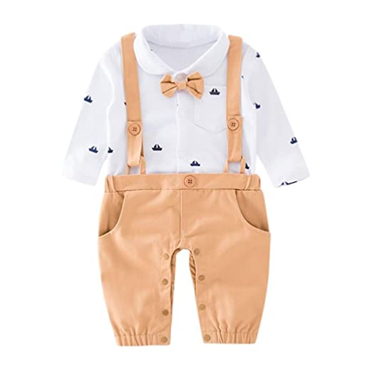 0cba96b30ad7 Amazon.com  Forthery Baby Boy Gentleman Bowtie Pocket Romper ...