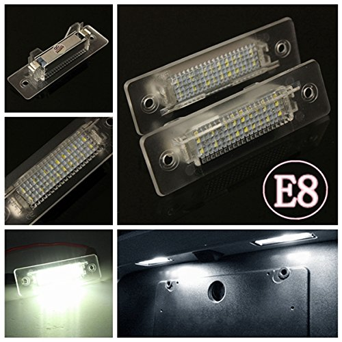 Price comparison product image BephaMart 2 X White LED Number License Plate Light Lamp For Porsche 911 Carrera E-marked Shipped and Sold by BephaMart