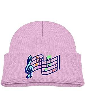 Cute Music Printed Teething Baby Winter Hat Beanie