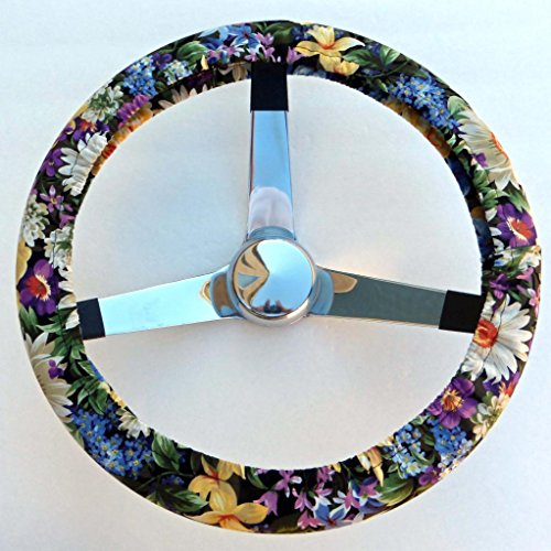 Mana Trading Handmade Steering Wheel Cover Country Flower Garden (Steering Wheel Flowers compare prices)