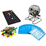 Royal Bingo Supplies Deluxe 6-Inch Bingo Game with Colored Balls, 300 Bingo Chips and 50 Bingo Cards