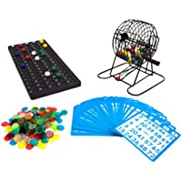 Royal Bingo Supplies GBIN-104 Deluxe 6-Inch Game with Colored Balls, 300 Bingo Chips and 50 Bingo Cards