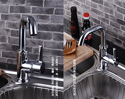 Furesnts Modern home kitchen and Bathroom Sink Taps all bronze kitchen Taps mixed hot and cold shower Bathroom Sink Taps,(Standard G 1/2 universal hose ports)
