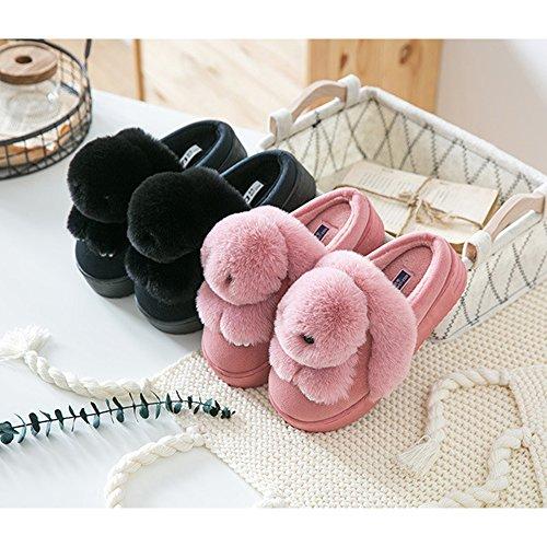 Chaussons Bebe Fuyingda Filles Chaud Hiver Bambin Coton Chaussures Animal Peluche Rose Pantoufles Style Hiver amp; Lapin Femmes Femmes Confortable Pantoufles ptrnqt4xwI
