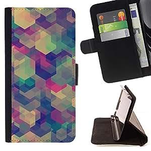 For HTC DESIRE 816 Case , Lila - la tarjeta de Crédito Slots PU Funda de cuero Monedero caso cubierta de piel