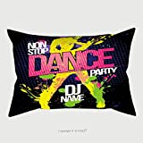 Custom Satin Pillowcase Protector Non Stop Dance Party Poster With Dancing Woman Silhouette Made From Blots Pop Art Style 376603345 Pillow Case Covers Decorative