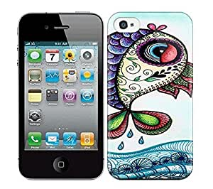 Best Power(Tm) HD Colorful Painted Watercolor Herbie Fish Hard Phone Case For Iphone 4/4S