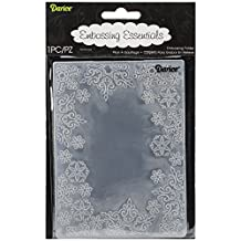 Darice Embossing Folder, 4.25 by 5.75-Inch, Snowflake Trim