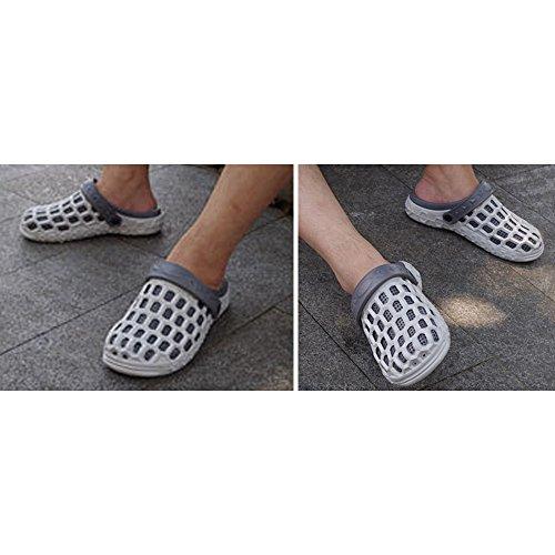 Eastlion EVA Paar Strand Garten Schuhe Sommer Mode Beiläufige halbe Hausschuhe für Liebhaber Männlich Stil 2 Grau