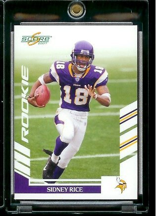 sidney rice score rookie card - 3