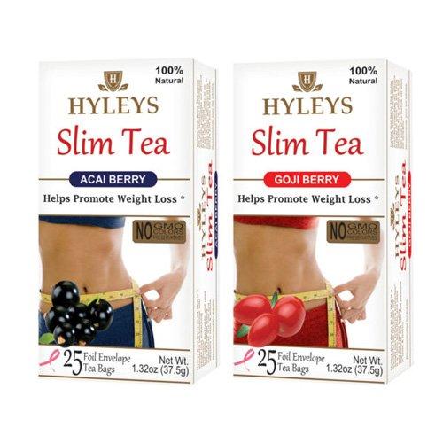 Hyleys Slim Tea- 2 Pack (Acai Berry and Goji Berry)