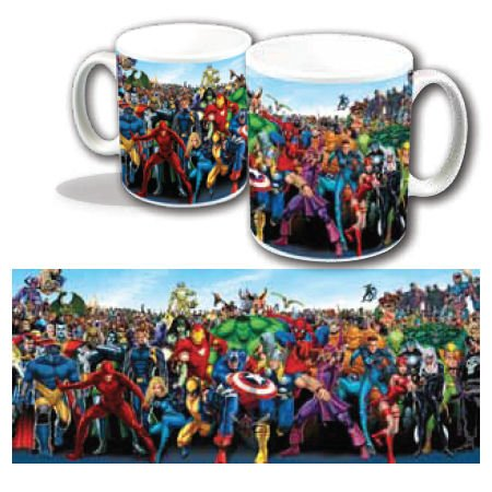 Marvel Character Line Up Mug